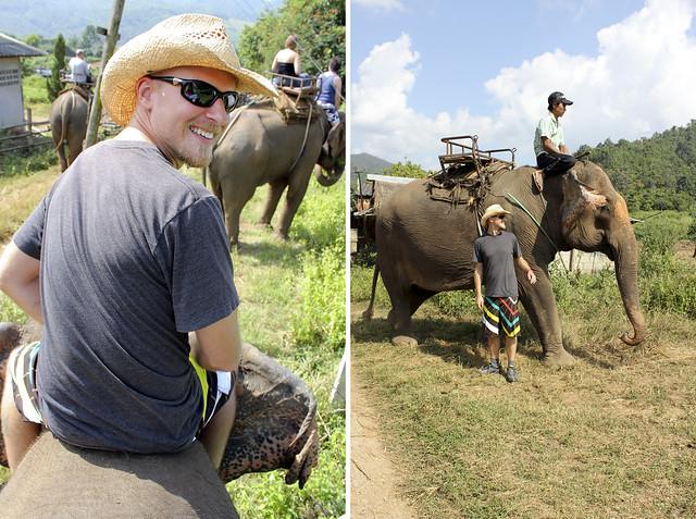 trav & our elephant