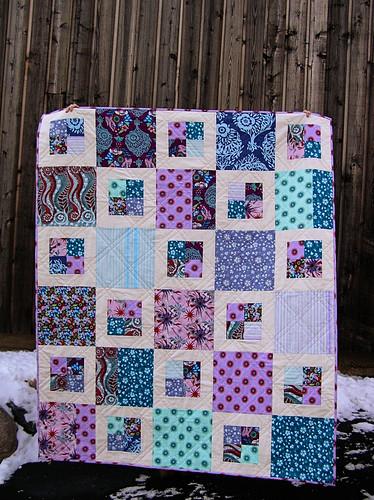 Cool Colors Innocent Crush 4-Square Quilt