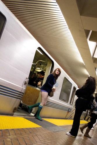 No Pants Subway Ride, SF 2011: arrival 00