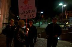 Candlight vigil for Gabrielle Giffords & Arizo...