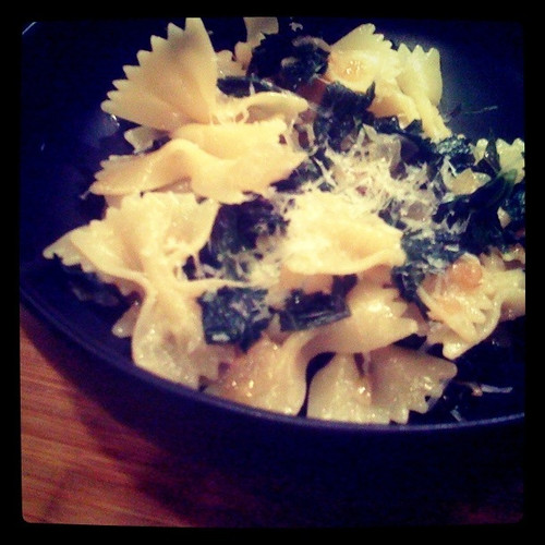 Farfalle with Braised Kale