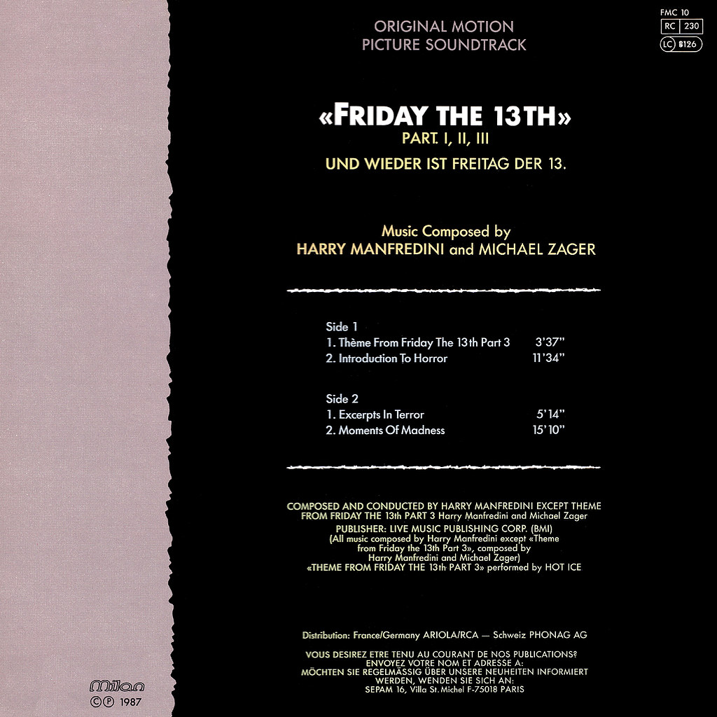 Harry Manfredini - Friday the 13th