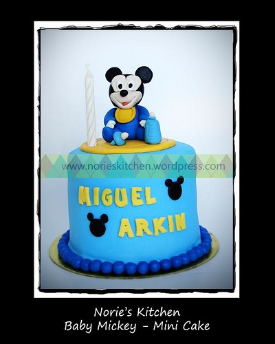 Norie's Kitchen - Baby Mickey - Mini Cake