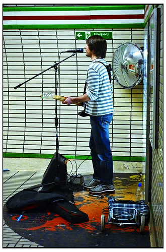 Busker - Marble Arch Station