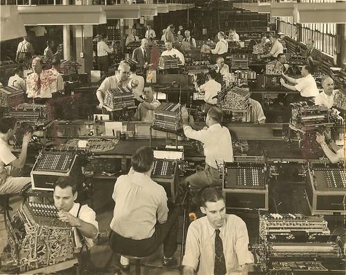 Department 134, Burroughs Adding Machine