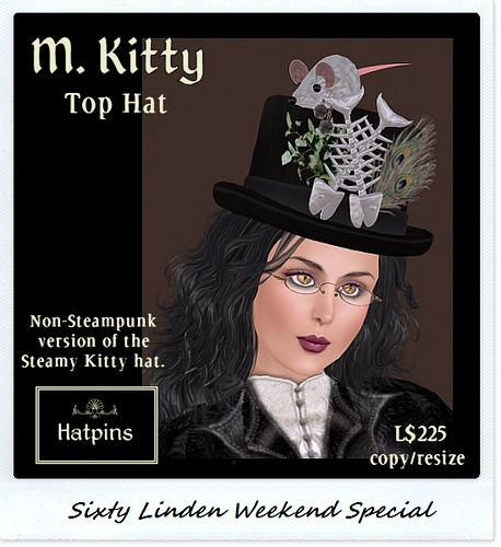 Hatpins - M. Kitty Top Hat - Sixty Linden Weekend