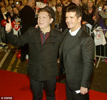 Jonal Chong with Simon Cowell