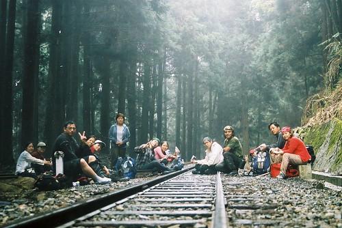 阿里山森林火車鐵軌旁好冷4