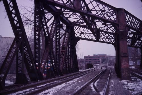Railroad tracks in North Albany, December 26, 2010 - my final Kodachrome shots
