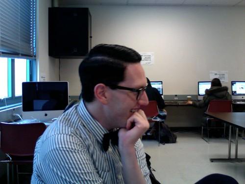 Derek Chisamore in class