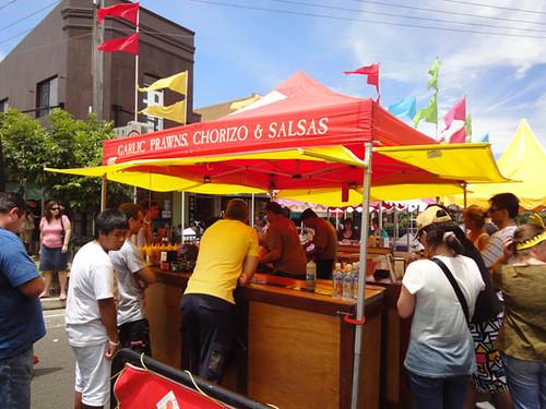 Dulwich Hill Street Fair: Garlic prawns, chorizo & salsas