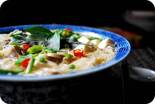 Mushroom & Tofu Noodle Soup II