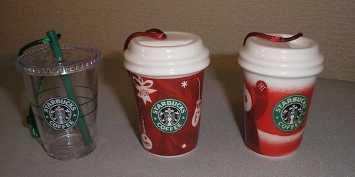 Starbucks Christmas ornaments
