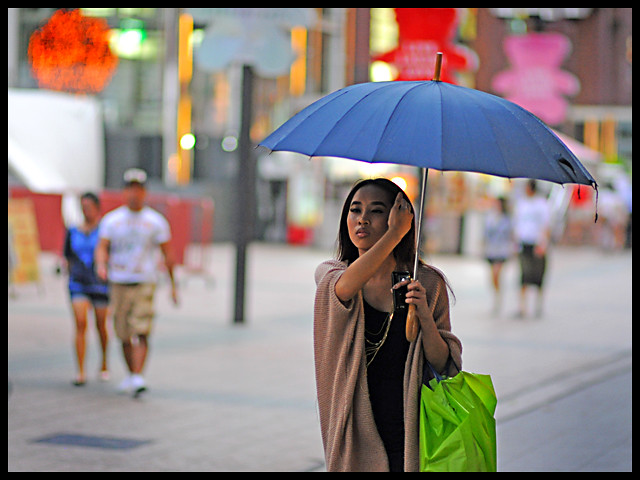 Drizzling Beauty Girl Candid street photography