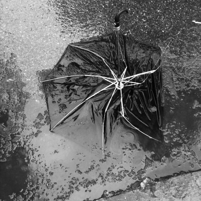 sad umbrella #walkingtoworktoday