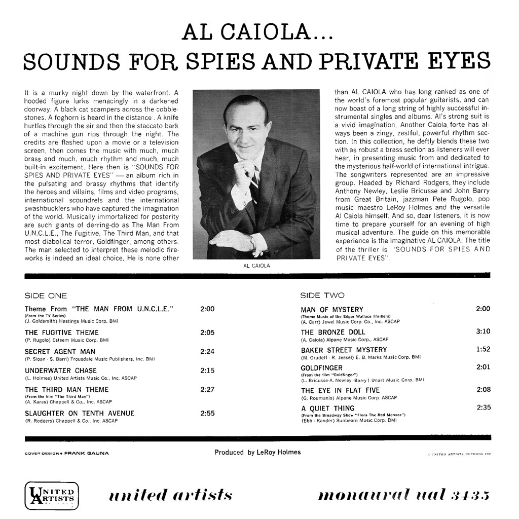 Al Caiola - Sounds for Spies and Private Eyes