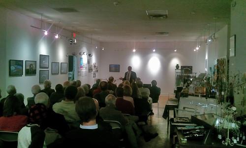 Andy Kosch presenting at City Lights Gallery in Bridgeport CT