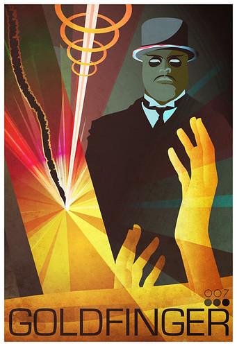 Reelizer 007 James Bond Goldfinger by Gabriel Aronson Movie Poster