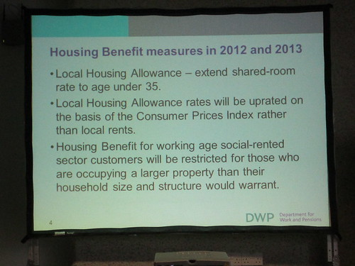 Slides from the DWP workshop on the changes in...