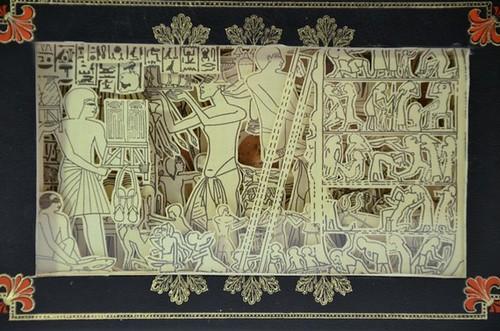 Etsy hokeystokes Book Carving Los Egipcios 4 by Julia Field $150