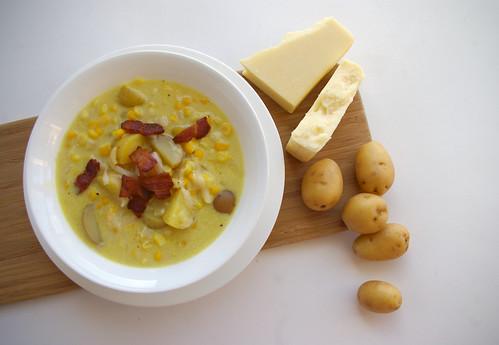 Cheddar Corn Chowder - ingredients