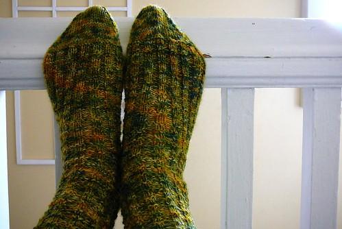 waffle rib socks