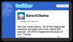Barack's Victory Tweet