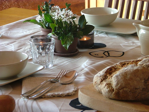 tablescape in beige