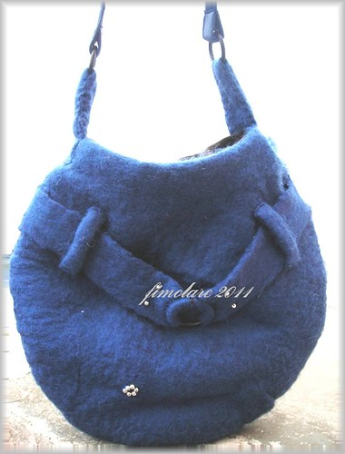 Wet felted Bag