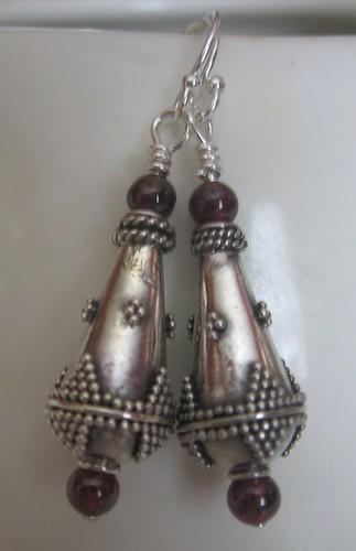 Etsy hoosiermama Bali Silver Teadrops Earrings $14