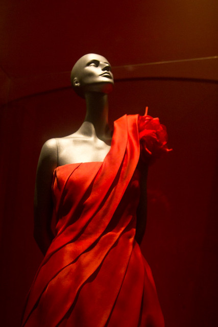 Love the toga, corsage and red