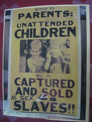 Notice to parents: unattended children will be...