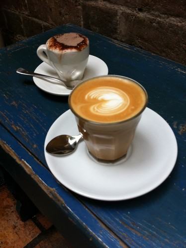 decaf latte and babycino, robocog, surry hills