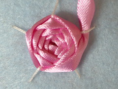 Ribbon embroidery on felt13