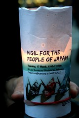 Vigil for the people of Japan candle