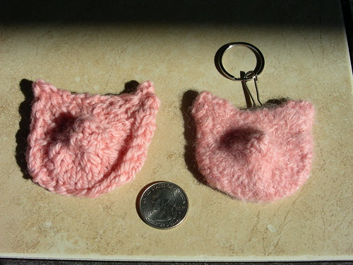 Pig Unfelted and Pig Felted by Artisan All Unwound