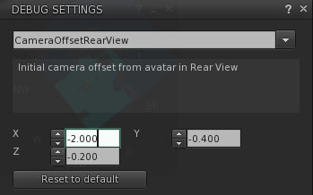 camera offsetrearview settings