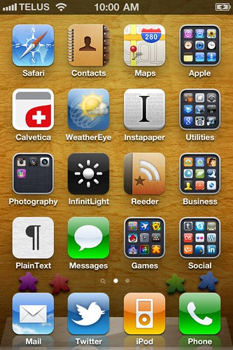 Current iPhone 4 Home Screen