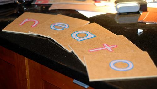 51/365 sandpaper letters