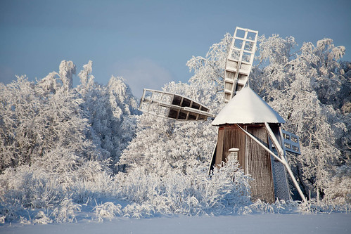 Old windmill in Otava by HeikkiA
