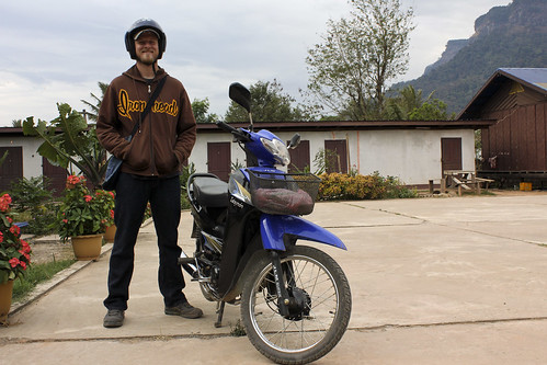 travis & the motorcycle