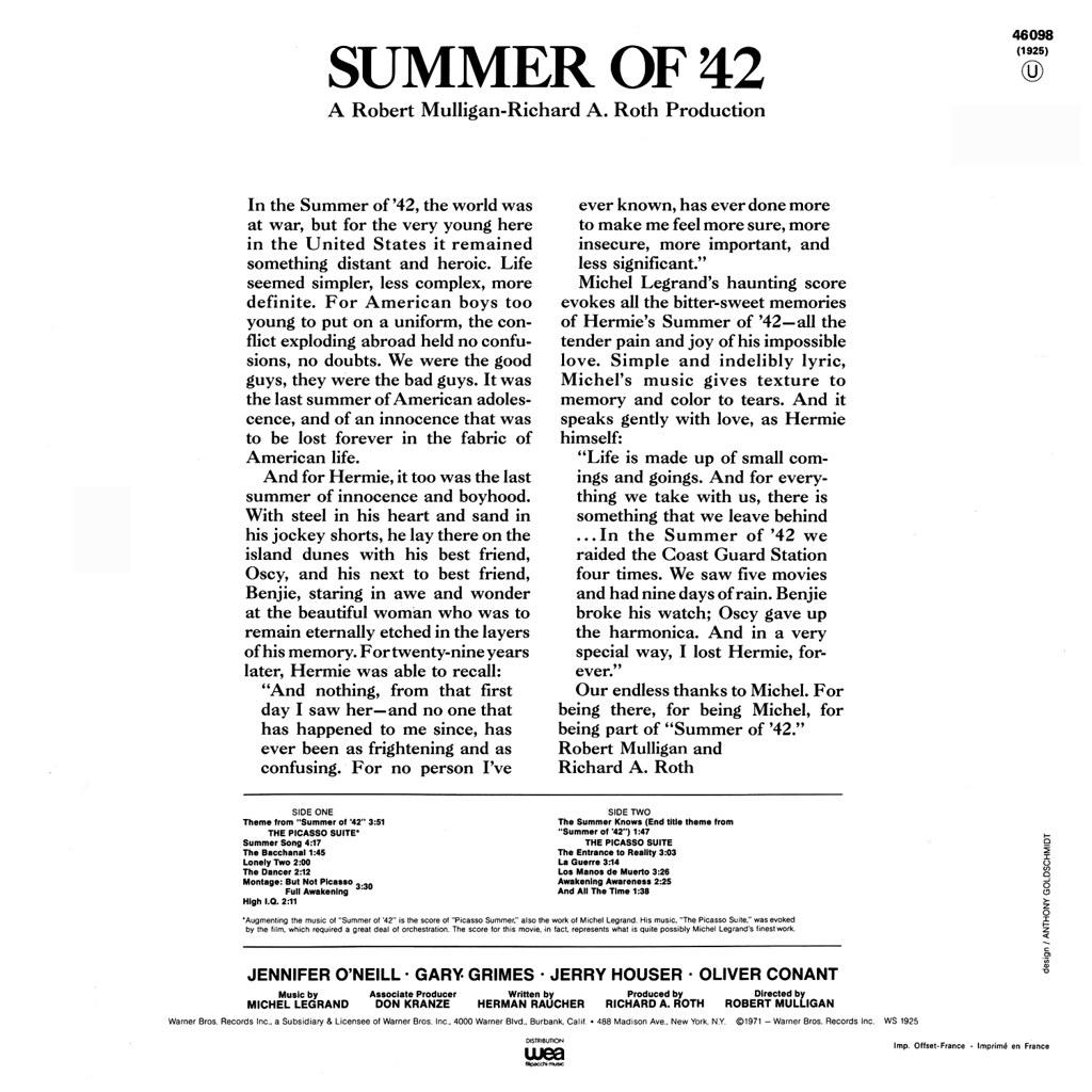 Michel Legrand - Summer of 42