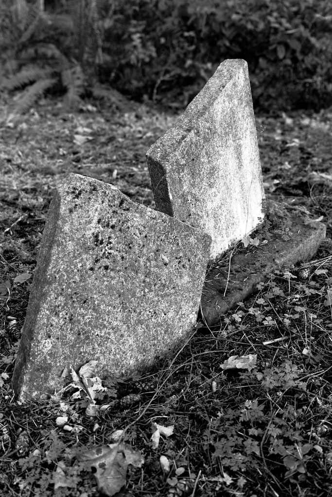 Dueling headstones