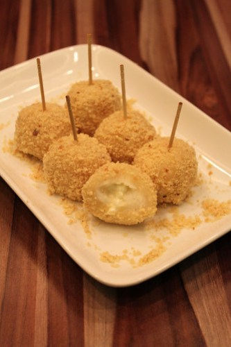 Buchi with White Chocolate filling at Delicious Kitchen