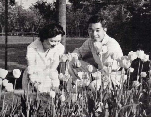 The Princess and Crowned Prince of Japan 1960