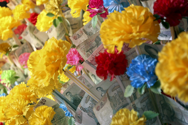 flowers & money
