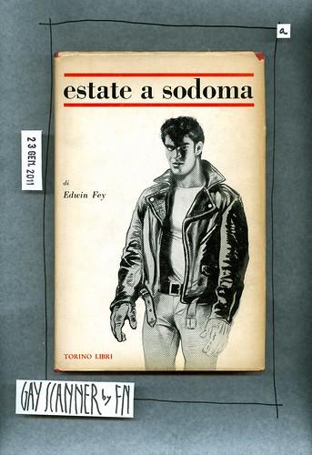 Edwin Fey, Estate a Sodoma, Torino Libri 1966. Lo scorpione 5. Copertina