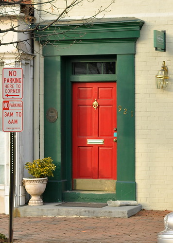 Alex red & green door