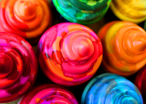 crayon cupcakes 3