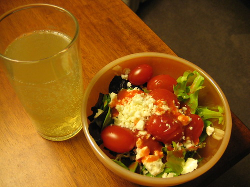 cider and salad